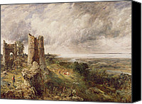 Cloudy Painting Canvas Prints - Hadleigh Castle Canvas Print by John Constable