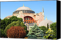 Sofia Canvas Prints - Hagia Sophia Canvas Print by Artur Bogacki