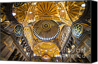 Sofia Canvas Prints - Hagia Sophia Byzantine Architecture Canvas Print by Artur Bogacki