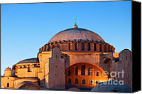 Sofia Canvas Prints - Hagia Sophia in Istanbul Canvas Print by Artur Bogacki