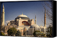 Byzantine Photo Canvas Prints - Hagia Sophia Canvas Print by Joan Carroll