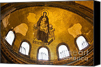 Sofia Canvas Prints - Hagia Sophia Mosaic Canvas Print by Artur Bogacki