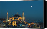 Column Canvas Prints - Hagia Sophia Museum Canvas Print by Ayhan Altun