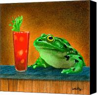 Bars Painting Canvas Prints - Hair of the frog... Canvas Print by Will Bullas