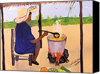Nicole Jean-louis Canvas Prints - Haitian Pumpkin Soup Canvas Print by Nicole Jean-Louis