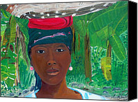 Nicole Jean-louis Canvas Prints - Haitian Woman   2 Canvas Print by Nicole Jean-Louis