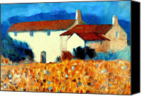 Cortijo Canvas Prints - Halcyon hideaway Canvas Print by Valerie Anne Kelly