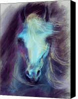 Equine Pastels Canvas Prints - Halcyon Canvas Print by Kim McElroy