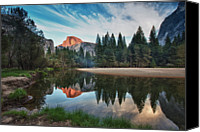Valley Canvas Prints - Half Dome And  Merced Canvas Print by Mimi Ditchie Photography