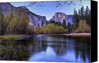  Yosemite Canvas Prints - Half Dome Near Sunset Canvas Print by Jim Dohms