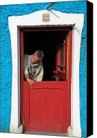 Moran Canvas Prints - Half Door Canvas Print by Aidan Moran