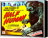 1950s Movies Canvas Prints - Half Human, Aka Half Human The Story Of Canvas Print by Everett