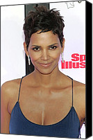 James Atoa Canvas Prints - Halle Berry In Attendance For Muhammad Canvas Print by Everett
