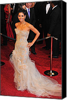 Academy Awards Oscars Canvas Prints - Halle Berry Wearing Marchesa Dress Canvas Print by Everett