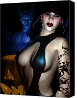 Kinky Canvas Prints - Halloween Canvas Print by Alexander Butler