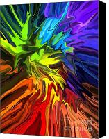 Psychedelic Space Art Canvas Prints - Hallucination Canvas Print by Chris Butler