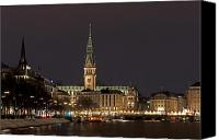 Rathaus Photo Canvas Prints - Hamburg Rathaus Canvas Print by Phobeke Photographie Bernd Keller