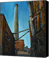 Ruin Painting Canvas Prints - Hamm Brewery Canvas Print by Grace Dupre