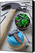 Cupcakes Canvas Prints - Hammer cupcake Canvas Print by Garry Gay