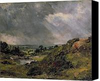 Rays Painting Canvas Prints - Hampstead Heath Canvas Print by John Constable
