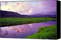 Green Canvas Prints - Hanalei Dawn Canvas Print by Kevin Smith