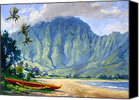 Plein Canvas Prints - Hanalei style Canvas Print by Jenifer Prince