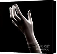 Fingers Photo Canvas Prints - Hand of mannequin Canvas Print by Bernard Jaubert