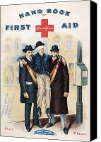 Injured Canvas Prints - Handbook: First Aid Canvas Print by Granger