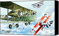 Air Plane Drawings Canvas Prints - Handley Page 400 Canvas Print by Charles Taylor