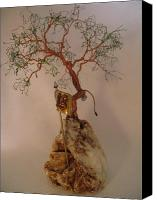 Tree Ceramics Canvas Prints - Hanging It Up Canvas Print by Judy Byington
