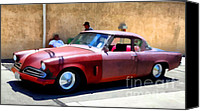 Wide Canvas Prints - Hanging With My Buddy . 1953 Studebaker .  5D16513 Canvas Print by Wingsdomain Art and Photography
