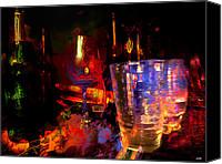 Night Out Painting Canvas Prints - Hangover Canvas Print by Carl Rolfe