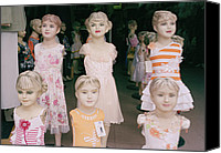 Vietnamese Model Canvas Prints - Hanoi Mannequins Canvas Print by Shaun Higson