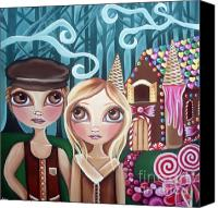 Teen Painting Canvas Prints - Hansel and Gretel Canvas Print by Jaz Higgins