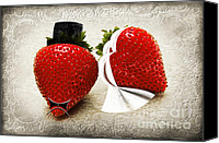Berry Canvas Prints - Happily Berry After Canvas Print by Andee Photography