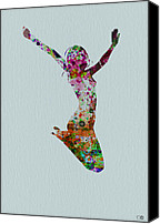 Gymnastics Painting Canvas Prints - Happy dance Canvas Print by Irina  March