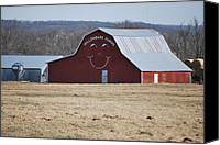 Michele Carter Canvas Prints - Happy Farm Canvas Print by Michele Carter