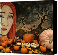Halloween Digital Art Canvas Prints - Happy Halloween Canvas Print by Jeff Burgess