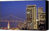 Bay Bridge Canvas Prints - Happy Holidays Canvas Print by Sean Duan