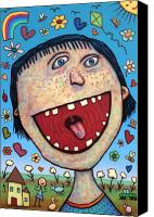 Happy Canvas Prints - Happy Pill Canvas Print by James W Johnson