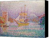 Signac Canvas Prints - Harbour at Marseilles Canvas Print by Paul Signac