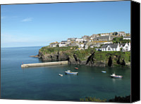 Cornwall Canvas Prints - Harbour In Port Isaac, Cornwall Canvas Print by Thepurpledoor