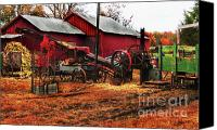 Amish Community Digital Art Canvas Prints - Hard At Work Canvas Print by Terril Heilman