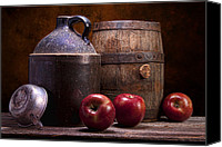 Still Life Canvas Prints - Hard Cider Still Life Canvas Print by Tom Mc Nemar