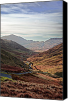 Mountain Scene Canvas Prints - Hardknott Pass, Langdale Valley, Lake District Canvas Print by Nina K Claridge