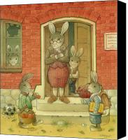 Hare Canvas Prints - Hare School Canvas Print by Kestutis Kasparavicius