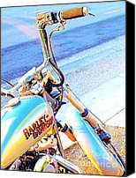 Silver Canvas Prints - Harley-Davidson Canvas Print by Wingsdomain Art and Photography