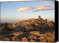 Mid West Canvas Prints - Harney Peak at Dusk Canvas Print by Daniel  Taylor