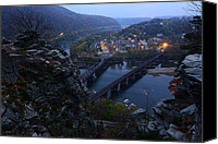 Harpers Ferry Canvas Prints - Harpers Ferry WV Canvas Print by Bernard Chen