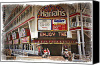 Buffet Canvas Prints - Harrahs 1994 - IMPRESSIONS Canvas Print by Ricky Barnard